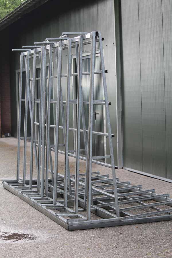 Aanhangwagen glas kozijnenbok